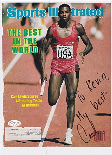 Carl Lewis Signed Inscribed Auto Autograph Sports Illustrated Cover - JSA Certified - Autographed Olympic Magazines