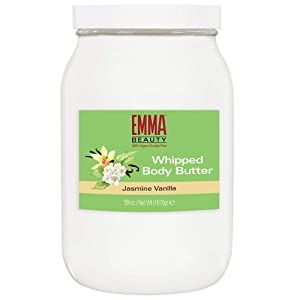 EMMA BEAUTY Jasmine vanilla whipped Body Butter, Deeply Hydrating & healing Body Butter, Non-Greasy, Residue-Free, 59 Oz
