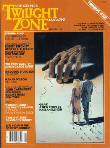 Book cover from Rod Serlings The Twilight Zone Magazine, Vol. 1, No. 1 (April, 1981) by Stephen King