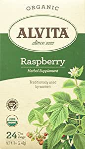 Alvita Organic Red Raspberry Leaf Tea, 24 bags (3 pack)