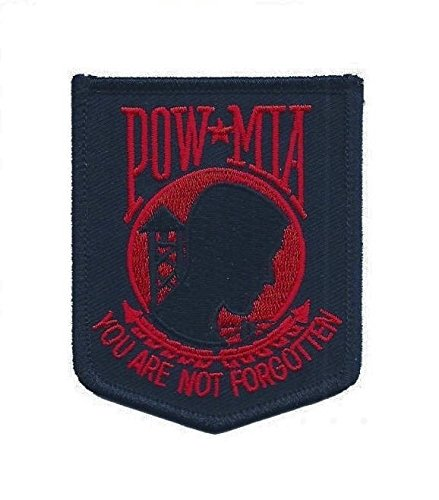 POW MIA - You Are Not Forgotten Patch (Iron on, Red and Black)