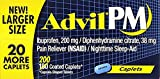Advil PM Caplets, Pack of 4 (200 ct each) UC*Z