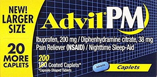 Advil PM Caplets, Pack of 4 (200 ct each) UC*Z by Advil