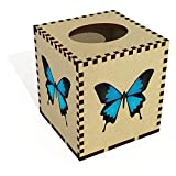 Azeeda Square'Ulysses Butterfly' Wooden Tissue Box Cover (TB00037514)
