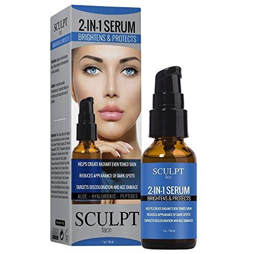 Sculpt 2 in 1 Brighten & Protect Face Serum 1oz