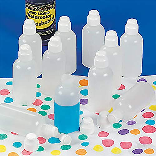 The Dreidel Company Brilliant Bingo Bottles with Sponge Tip, Paint Marker Daubers, Great for Dot Painting, Easy Grip (12-Pack)