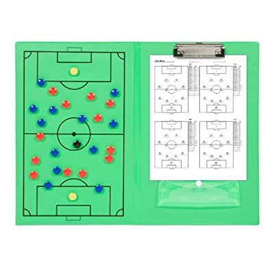 Magnetic Soccer Clipboard with Marker Pieces - Perfect to Coach Soccer, Basketball, & Hockey - by Trademark Innovations