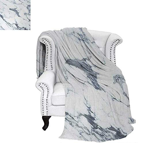 - Throw Blanket Antique Marble Textured Ocean Style Organic Granite Rock Formation Art Print Warm Microfiber All Season Blanket for Bed or Couch 50