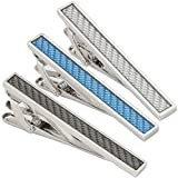 3pcs Set Classic Mens Tie Bar Clip, 2.1Inches