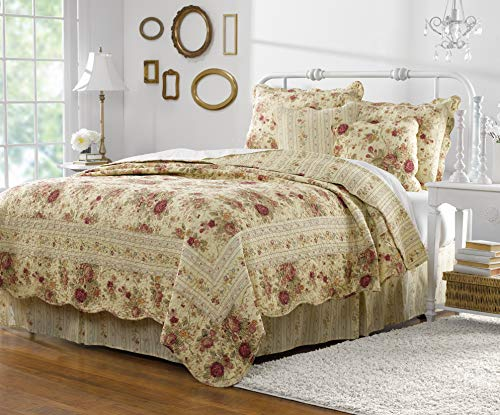 Greenland Home Antique Rose Quilt Set, 5-Piece Full/Queen, ()