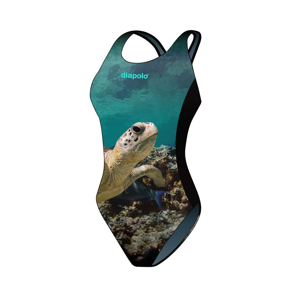 Taille 34 Diapolo Turtle Maillot de Bain de la Collection Wild Animals pour Nager Natation synchronisée Eau Ball thriathlon
