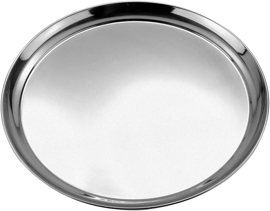 صينية تقديم دائرية طراز 52239 من صانيكس، 300 مل، من الستانلس ستيل، باللون الفضي