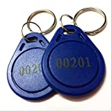 100pcs Thin 26 Bit Proximity Key Fobs Weigand Prox Keyfobs Compatable with ISOProx 1386 1326 H10301 Format Readers. Works with The vast Majority of Access Control Systems (Blue)
