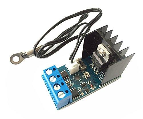Qianson DC 12V 1A Automatic PC CPU Fan Temperature Control Speed Controller Case Fan Governor ()