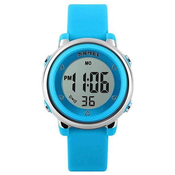 Reloj Deportivo Digital para niños, niños y Adolescentes Relojes Deportivos para niñas al Aire Libre, Reloj Impermeable con LED para niños y Despertador: ...
