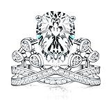 Meidiya Princess Crown Ring - Top Tiara Engagement Ring Gift for Women (7)
