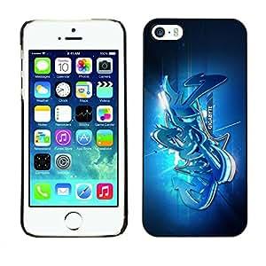 PC/Aluminum Funda Carcasa protectora para Apple Iphone 5 / 5S Street graffiti / JUSTGO PHONE PROTECTOR