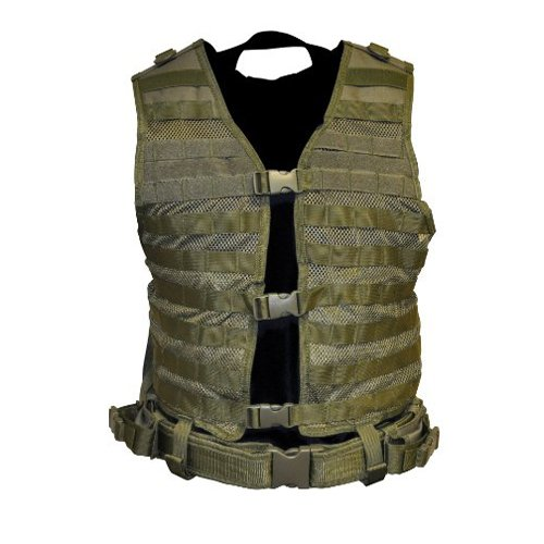 NcStar Molle/Pal Vest/Green MED-2XL