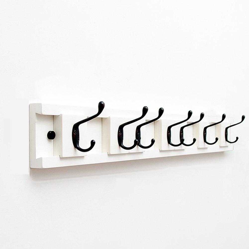 JIANFEI 壁掛けフック ウォールハンガー 水平 調節可能な 間隔 フックアップ、 竹 ( 色 : 白 , サイズ さいず : 86.8*2.4*9.8cm ) B07BDN6NB9白 86.8*2.4*9.8cm