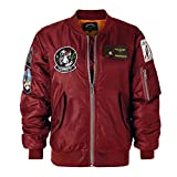 #6: AVIDACE Classic Bomber Jacket Women Nylon Quilted with Patches