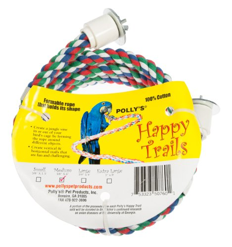 Polly Rope (Polly's Happy Trails Bird Perch, Medium)