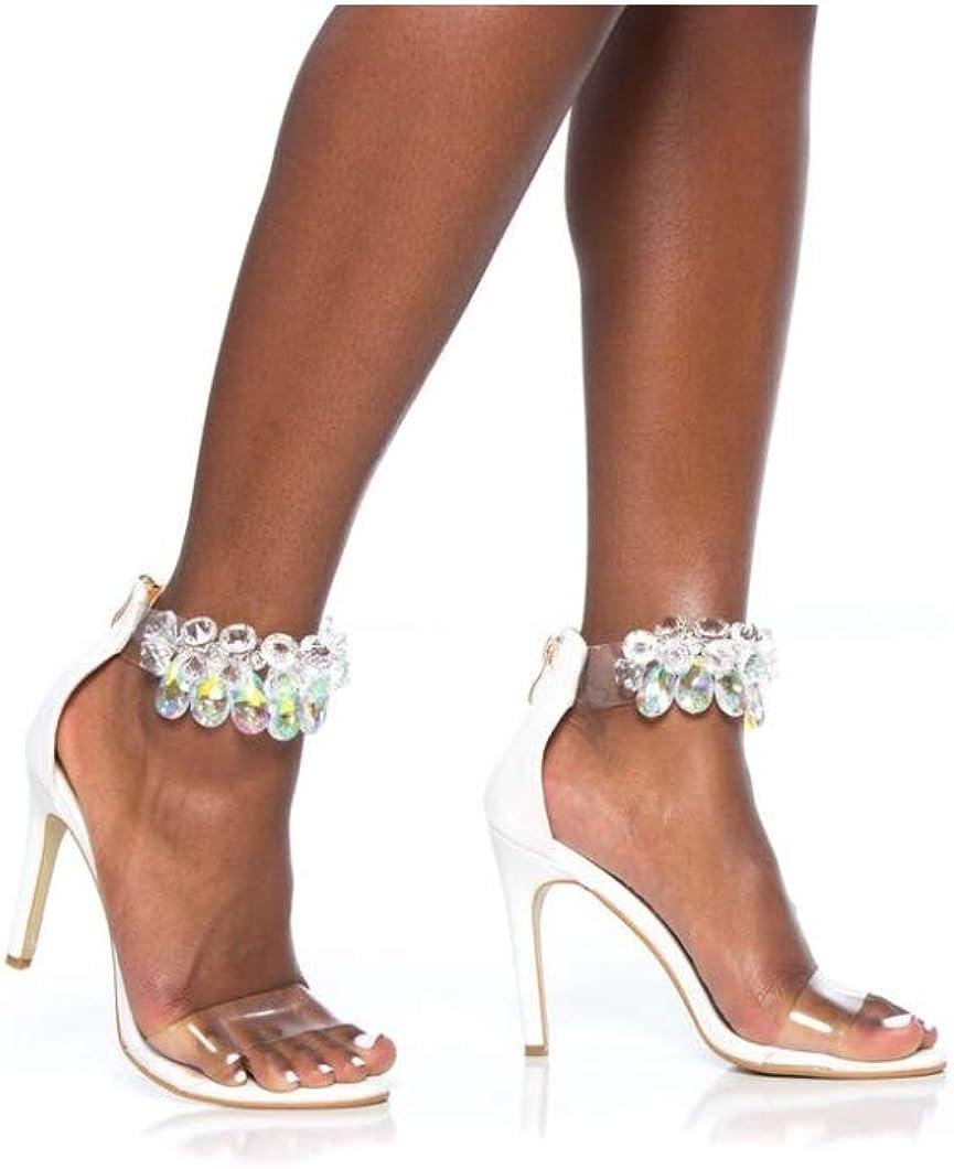 GEM Ankle Heeled Sandals with STUDDS