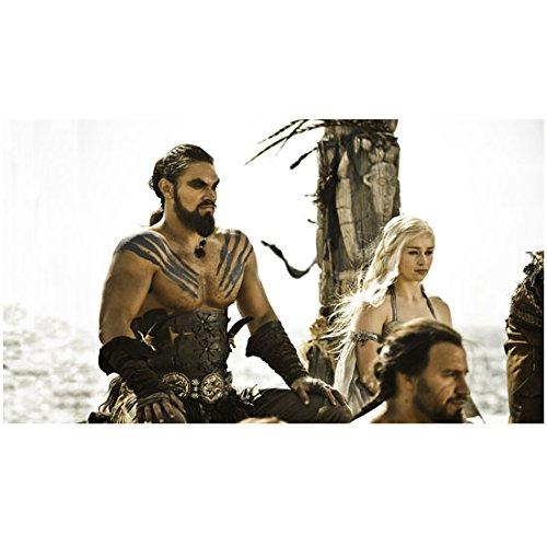Jason Momoa 8x10 Photo Stargate: Atlantis, Conan the Barbarian Game of Thrones w/Emilia Clarke Seated Windy Water in Background kn