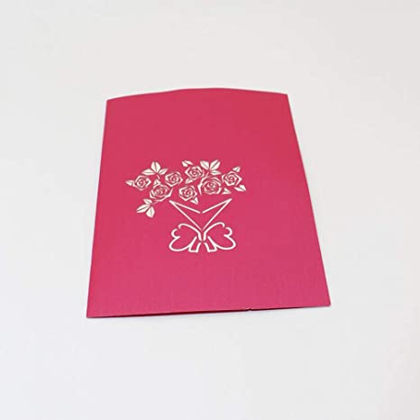 Tarjetas Amante Feliz cumpleaños Aniversario Saludo Tarjetas Pop Up 3D San Valentín WOZOW