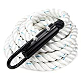 1.5-inch White Poly Dac Gym Climbing Rope by Crown Sporting Goods
