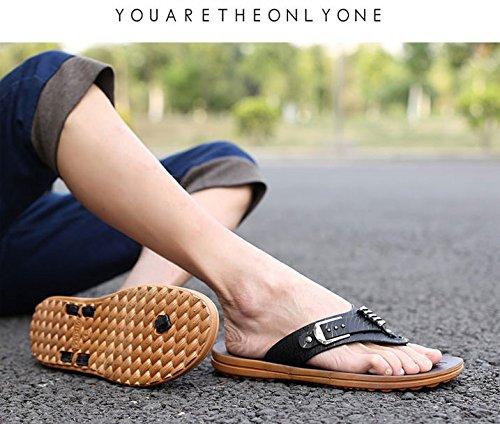 Gaorui Fashion Heren Sandalen Slippers Cool Flat Beach Casual Slippers Schoenen Nieuw Zwart