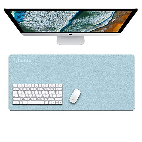 Fybamel Gaming Mouse Pad, PVC Laptop Mat, PC Keyboard Protector, Leather Table Protector, Large Desk Pad, PU Material, 5 Colors and Width 24''/30''/35'' by Fybamel