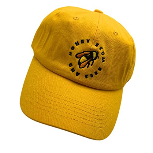 Chen Golf Wang Baseball Cap Bee Embroidered Dad Hats Adjustable Snapback Cotton Hat Unisex Yellow by chen guoqiang