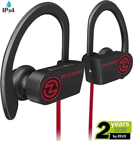 Wireless Bluetooth Headphones Zeus IMPROVED 2017 Best Sport Headphones - Wireless Earbuds w/ Mic Noise Cancelling - Running Headphones - Workout Headphones Earphones - Sports Earbuds for Women for (Over Ear Headphones Blue Tooth)