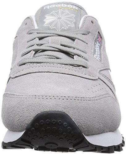 Reebok Classic Leather Suede - Zapatillas para mujer Gris (mgh Solid Grey/white/black/gold Met)