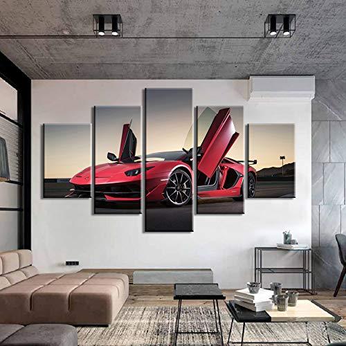 mmwin HD Poster 5 Piezas Pinturas sobre Lienzo Sport Car ...