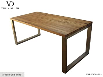 Design tisch holz metall for Design esstisch hamburg