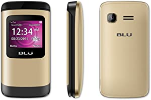 BLU Zoey Flex Factory Unlocked GSM Phone FM Radio Dual SIM MP3/4 Player (Gold)