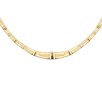 Amazon 14k yellow gold fancy greek key necklace 17 inch 14k yellow gold fancy greek key necklace 17 inch aloadofball Images