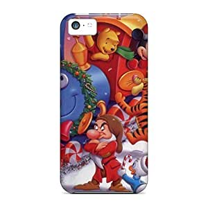 LJF phone case Awesome Winnie The Pooh Christmas Train Flip Case With Fashion Design For ipod touch 4