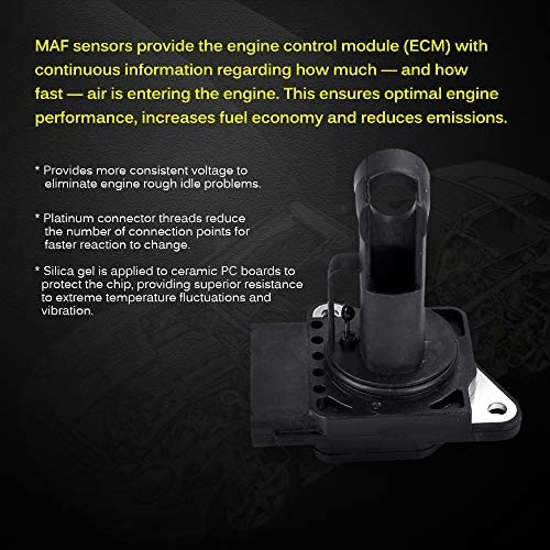 Mass Air Flow Sensor Meter MAF 22204-21010 22204-22010 74-50009 AF10029 for Lexus Scion Toyota,2000-2009 4Runner 3.4L,2002-2006 Camry 2.4L,2003-2008 Toyota Corolla,1999-2004 Toyota Tacoma 3.4L /& More