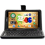 Ikall N4 Tablet (7 inch, 8GB, 4G + LTE + Voice Calling), Black with Keyboard