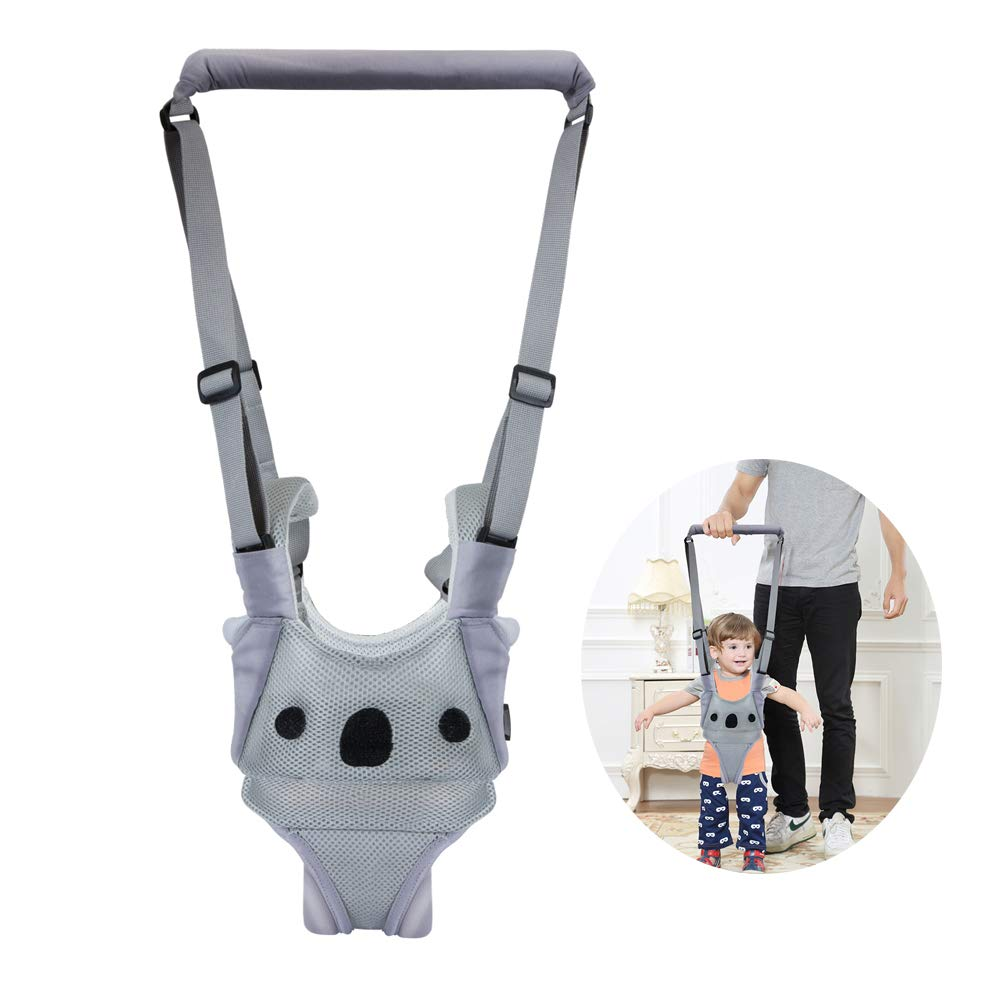 Baby Walking Harness Adjustable Detachable Mesh Baby Walker Assistant Protective Belt for Kids Infant Toddlers (Gray(Koala Pattern))