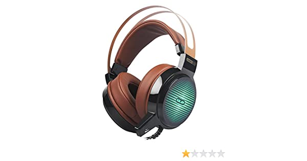 Amazon.com: Salar C13 Wired Gaming Headset Deep Bass Game Earphone Computer headphones with microphone led light headphones for computer pc (brown): ...