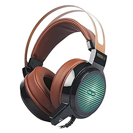 Salar C13 Wired Gaming Headset Deep Bass Game Earphone Computer headphones with microphone led light headphones