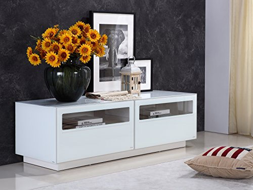 Casabianca Furniture TC-0180-WH Corte High Gloss White Lacquer Entertainment Center by Casabianca Home, 59 W x 20 D x 18 H ()