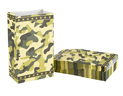 Party Treat Bags - 36-Pack Gift Bags, Camo