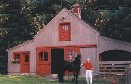 (Nine Small Horse Barn Plans - Complete Pole Barn Construction Blueprints)