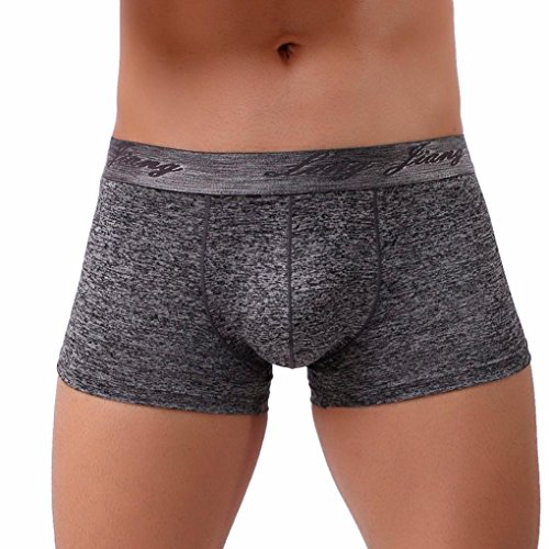 Lightning Deals Man Boxer,ZYooh Sexy Soft Cotton Breathable Bulge Pouch Briefs Trunks Underpants (Black, XL)