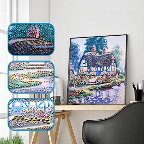 Finedayqi  Special Shaped Diamond Painting DIY 5D Partial Drill Cross Stitch Kits Crystal R