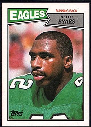 361328d99ec Amazon.com: Football NFL 1987 Topps #297 Keith Byars NM-MT RC Eagles ...